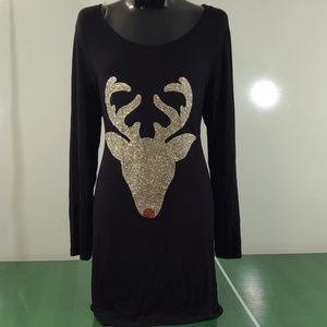 12pm by Mon Ami Rudolph Glitter Tunic/Dress